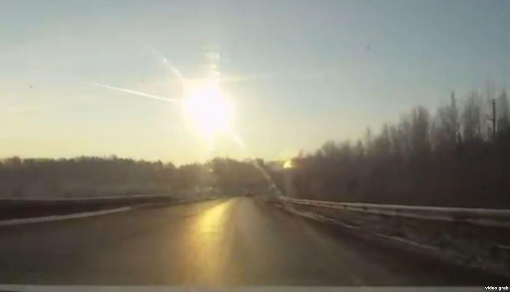 Chelyabinsk meteor capture