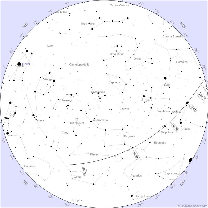 ISS Star chart 24 Dec London