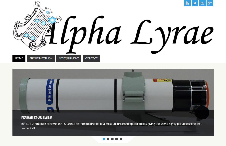 Alpha Lyrae Homepage