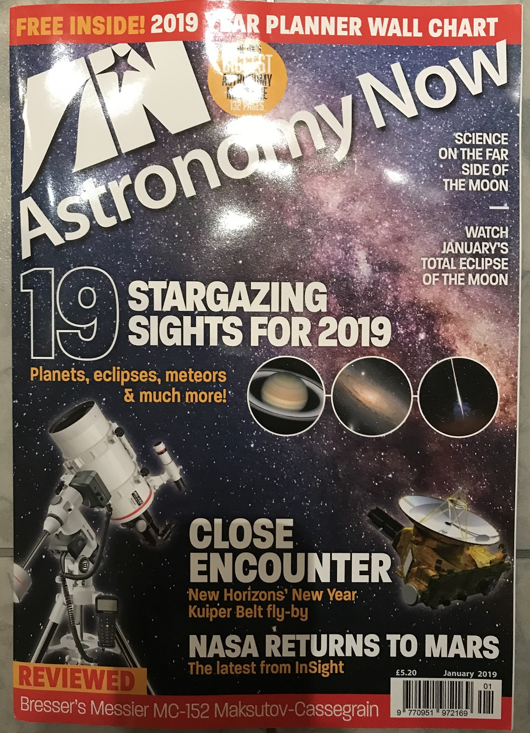 Astronomy Now January 2019 Cover