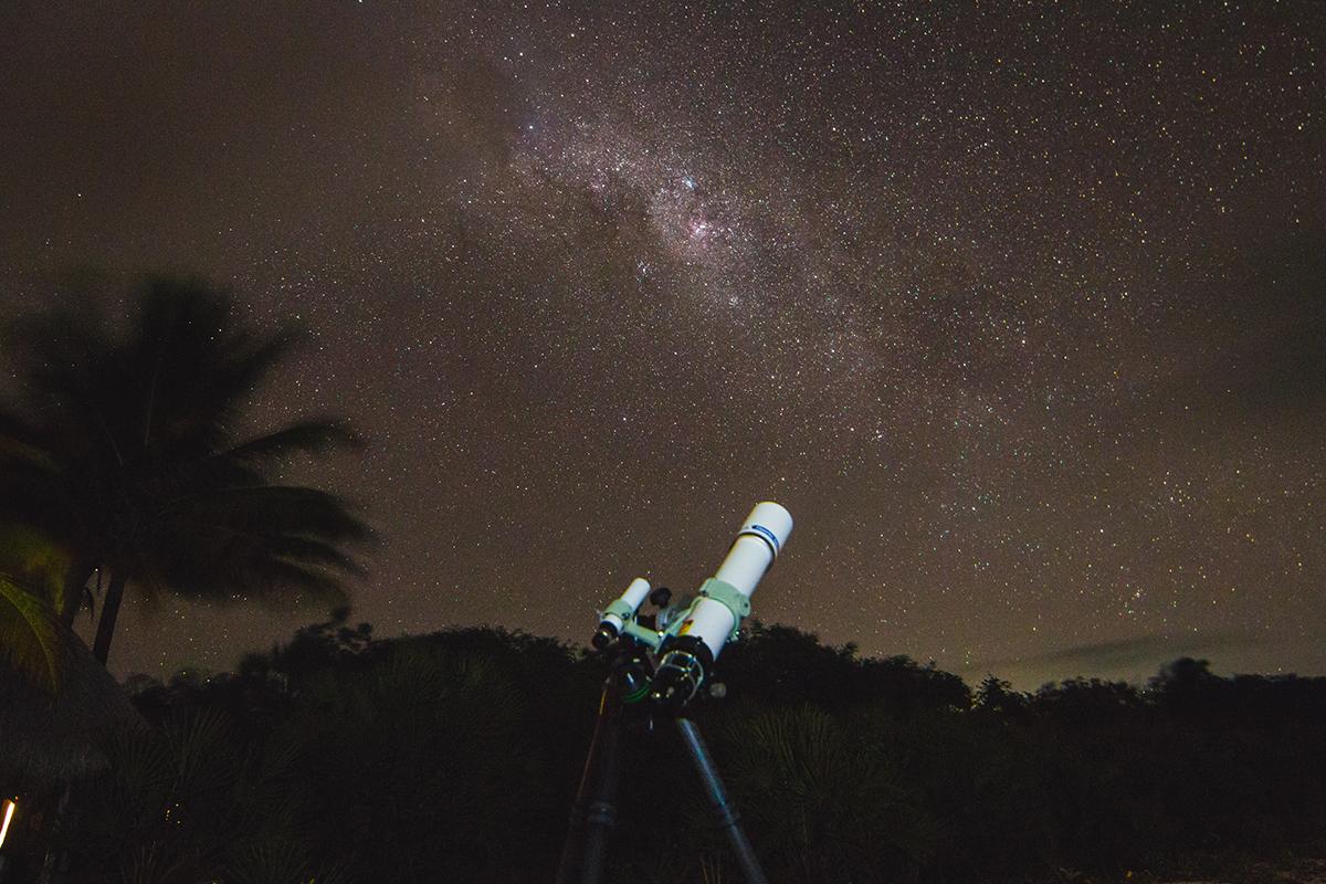 My telescope pointed towards the Carina region of the Milky Way