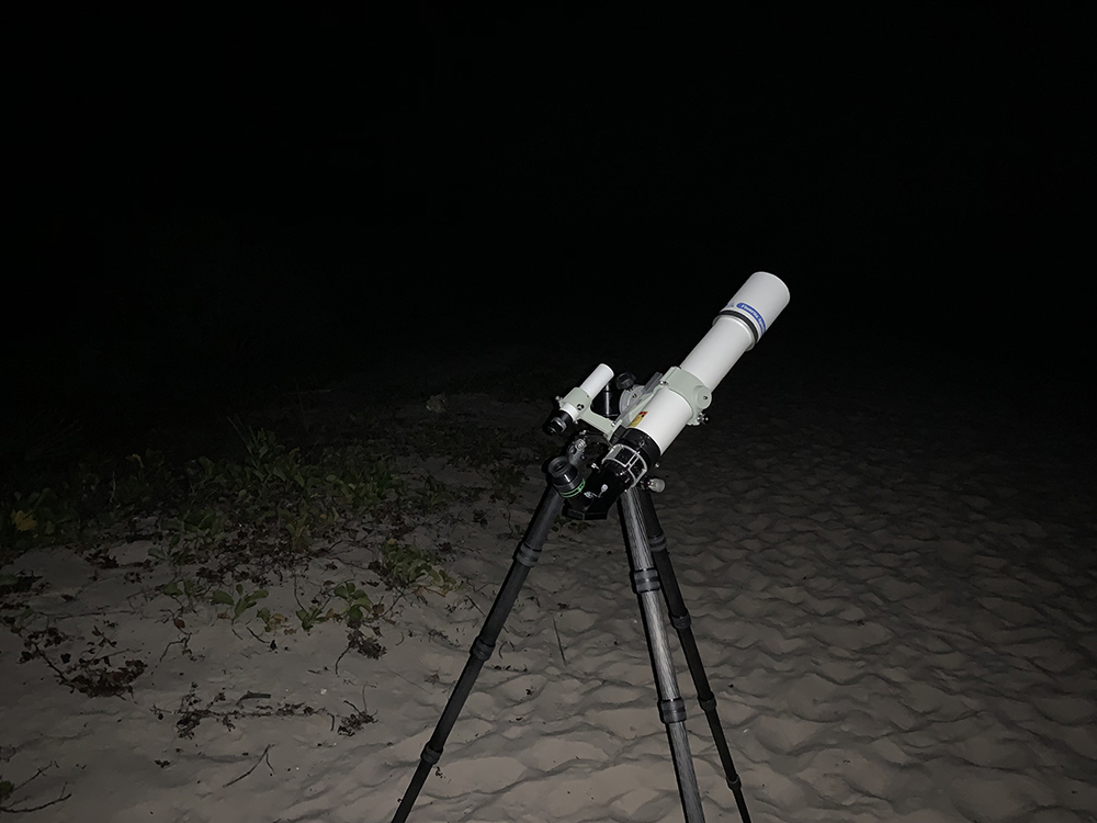The Takahashi FC-76 set up on the beach.