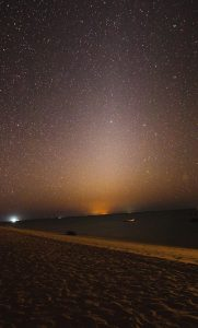 The Zodiacal Light, taken about 80 minutes after sunset.
